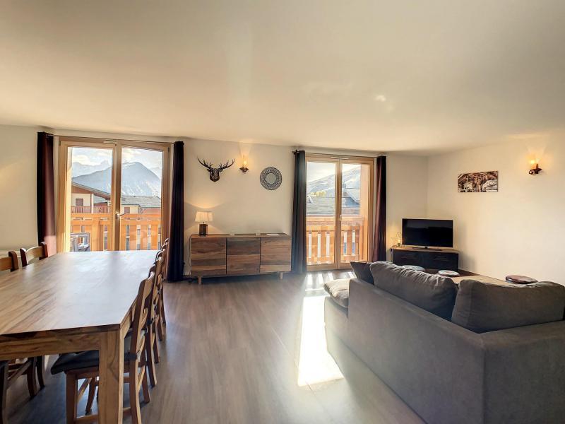 Location au ski Appartement 3 pièces coin montagne 8 personnes (202) - Résidence le Lys - La Toussuire - Séjour
