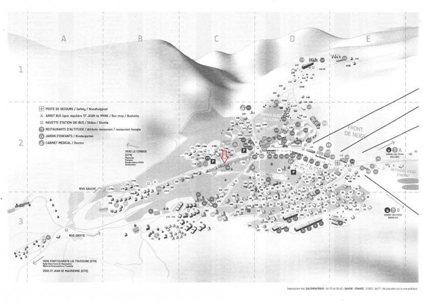 Location au ski Résidence les Aiguilles - La Toussuire - Plan
