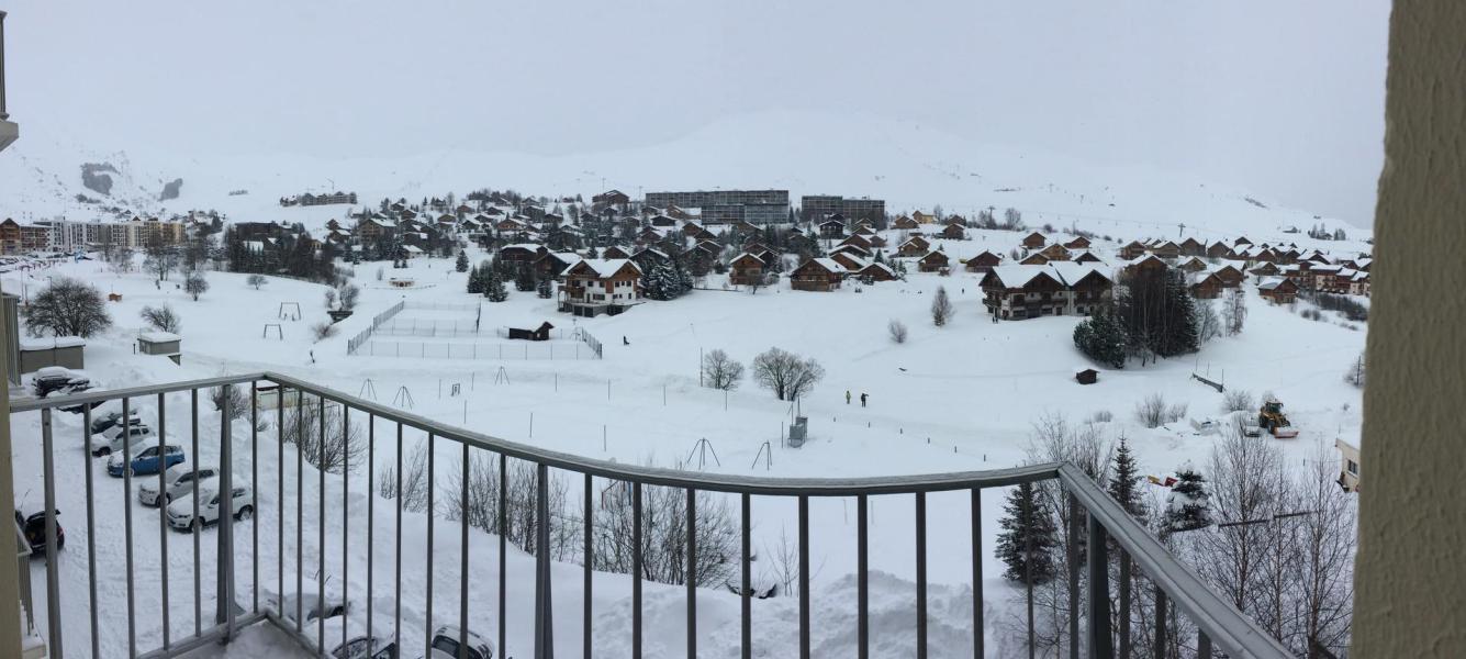 Location au ski Studio coin montagne 4 personnes (504) - Résidence les Aiguilles - La Toussuire - Balcon