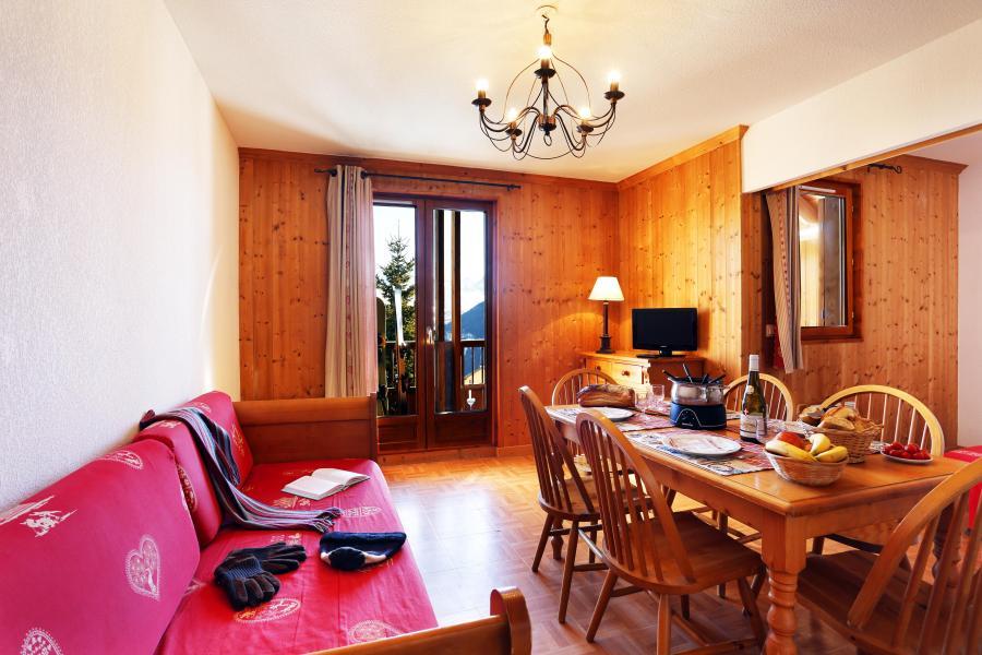 Alquiler al esquí Résidence les Chalets des Cimes - La Toussuire - Sofá