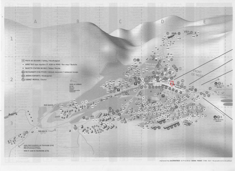 Location au ski Résidence les Ravières - La Toussuire - Plan