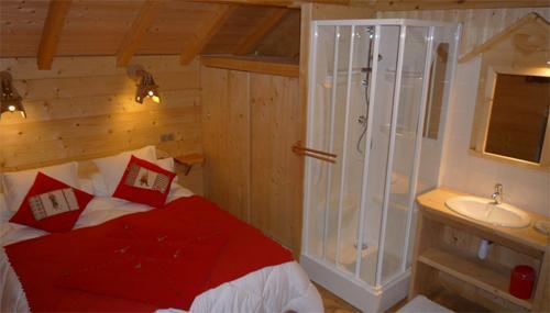 Location au ski Chalet 5 pièces mezzanine 12 personnes - Chalet Jardin D'hiver - La Toussuire - Chambre