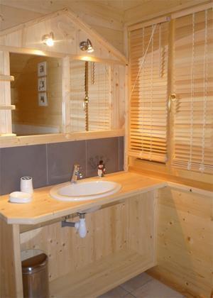 Location au ski Chalet 5 pièces mezzanine 12 personnes - Chalet Jardin D'hiver - La Toussuire - Lavabo