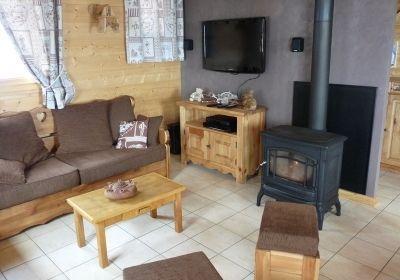 Location au ski Chalet 5 pièces mezzanine 12 personnes - Chalet Jardin D'hiver - La Toussuire - Poêle à bois
