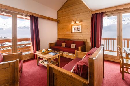 Location au ski Residence Lagrange Les Hauts De Comborciere - La Toussuire - Coin séjour