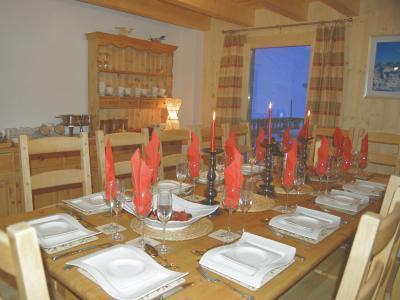 Location au ski Chalet 8 pièces 14 personnes - Chalet Charmille - La Tzoumaz - Salle à manger