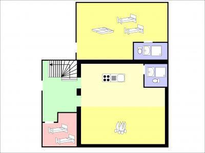 Location au ski Chalet duplex 6 pièces 12 personnes - Chalet Edelweiss De Tzoumaz - La Tzoumaz - Appartement