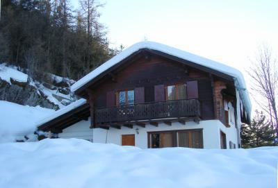 Location au ski Chalet Edelweiss De Tzoumaz - La Tzoumaz - Extérieur hiver