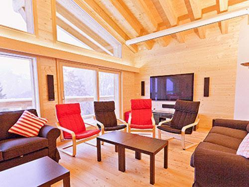 Location au ski Chalet 7 pièces 16 personnes - Chalet Flocon De Neige - La Tzoumaz - Séjour