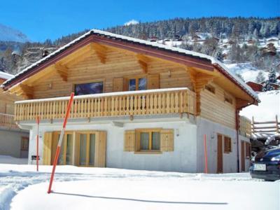 Location au ski Chalet 6 pièces 10 personnes - Chalet Pierina - La Tzoumaz - Extérieur hiver