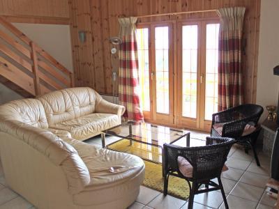 Location au ski Chalet duplex 5 pièces 8 personnes - Chalet Quatre Vallees - La Tzoumaz - Séjour