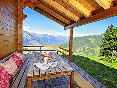 Location au ski Chalet duplex 5 pièces 8 personnes - Chalet Quatre Vallees - La Tzoumaz - Terrasse