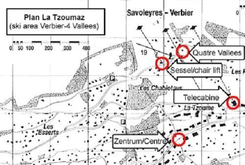 Location au ski Chalet Quatre Vallees - La Tzoumaz - Plan