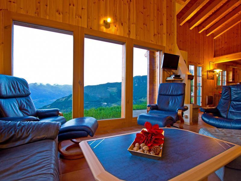 Location au ski Chalet Alpina P12 - La Tzoumaz - Coin séjour