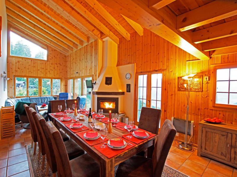 Location au ski Chalet Alpina P12 - La Tzoumaz - Salle à manger