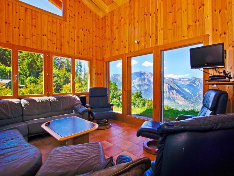 Location au ski Chalet Alpina P12 - La Tzoumaz - Séjour