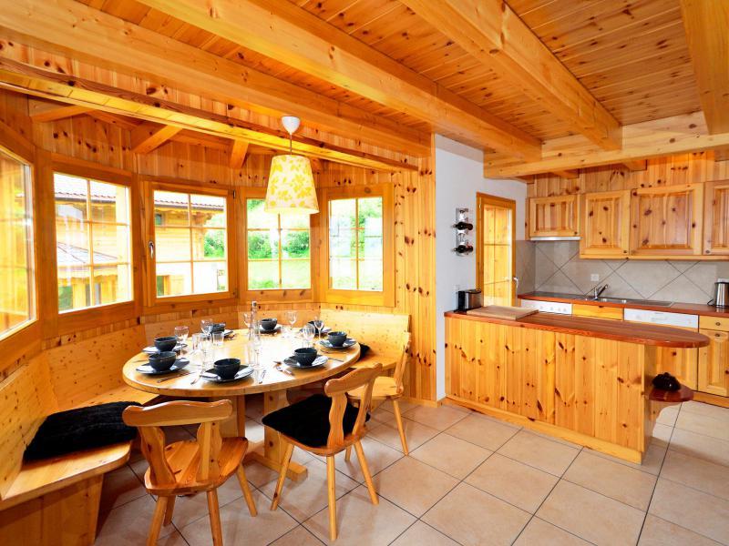 Location au ski Chalet Bellevue - La Tzoumaz - Salle à manger