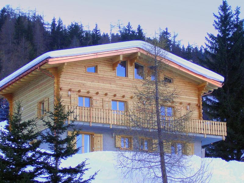 Location au ski Chalet Charmille - La Tzoumaz - Extérieur hiver