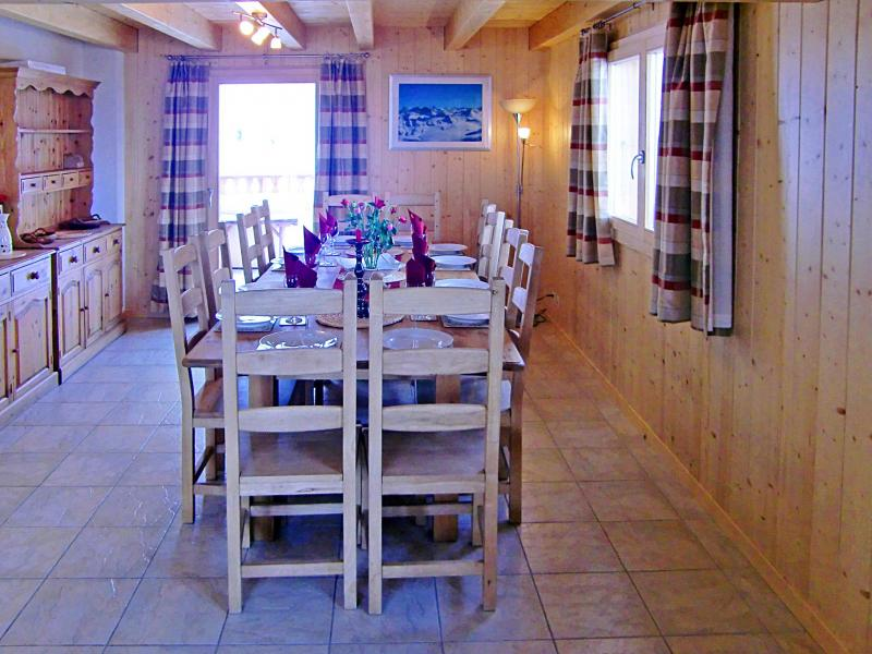 Location au ski Chalet Charmille - La Tzoumaz - Table