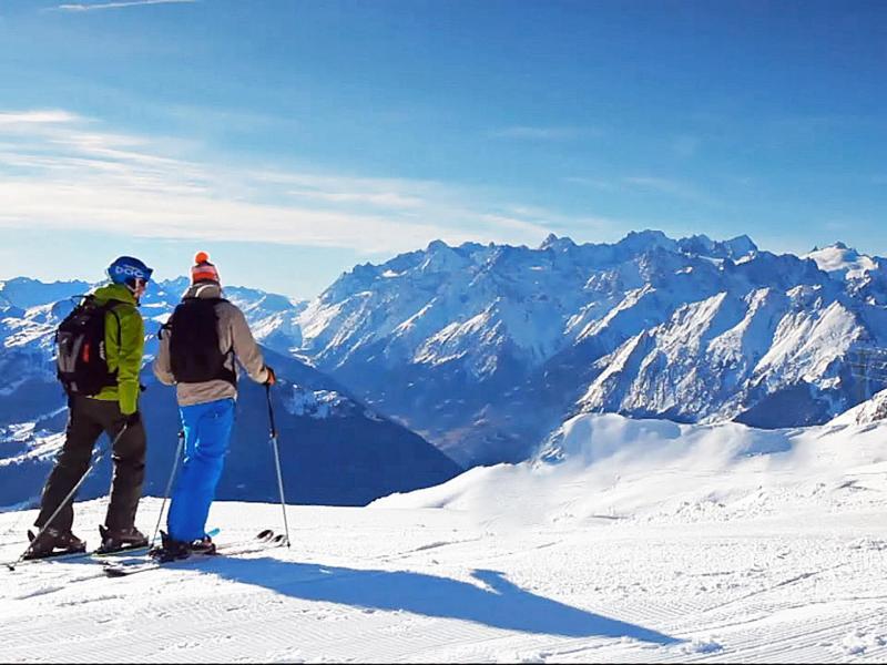 Location au ski Chalet de  - La Tzoumaz - Extérieur hiver