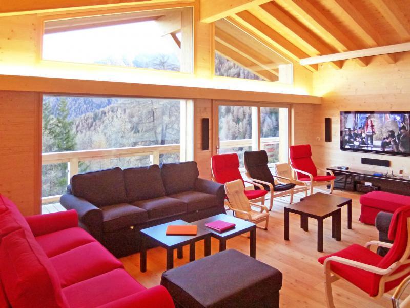 Location au ski Chalet Flocon de Neige - La Tzoumaz - Séjour