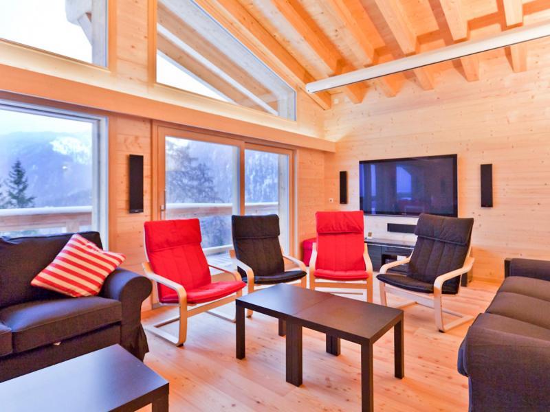 Location au ski Chalet Flocon de Neige - La Tzoumaz - Tv à écran plat