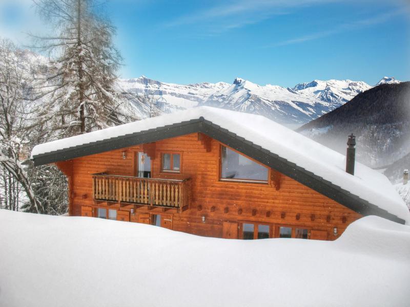 Location au ski Chalet Harmonie - La Tzoumaz - Extérieur hiver