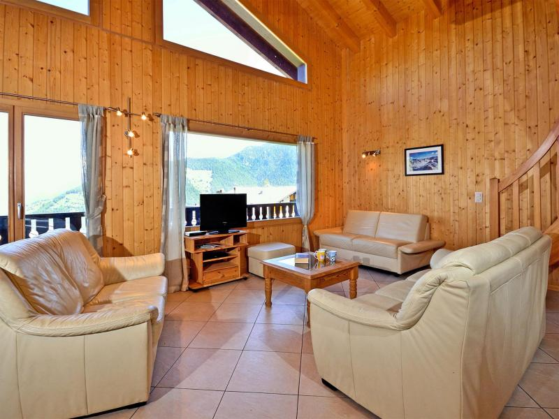 Rent in ski resort Chalet les Etoiles - La Tzoumaz - Living room