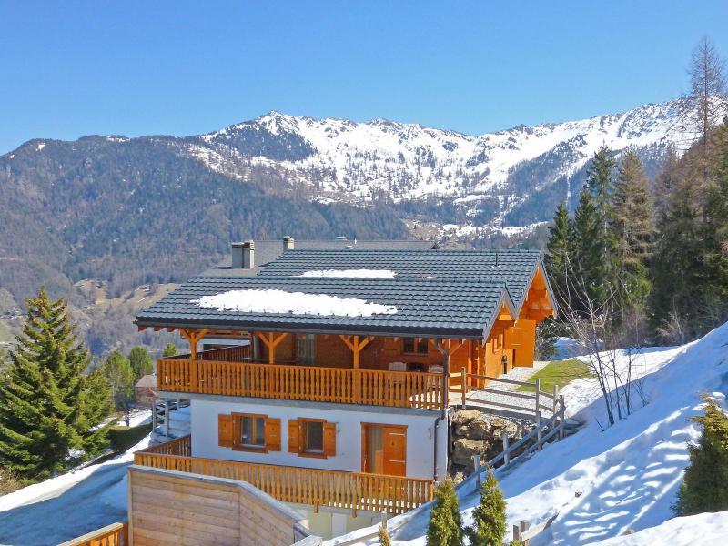 Location au ski Chalet Maria - La Tzoumaz - Extérieur hiver
