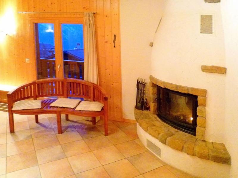 Аренда на лыжном курорте Chalet Maria - La Tzoumaz - Камин