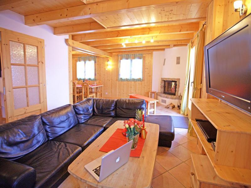 Аренда на лыжном курорте Chalet Michelle - La Tzoumaz - Салон