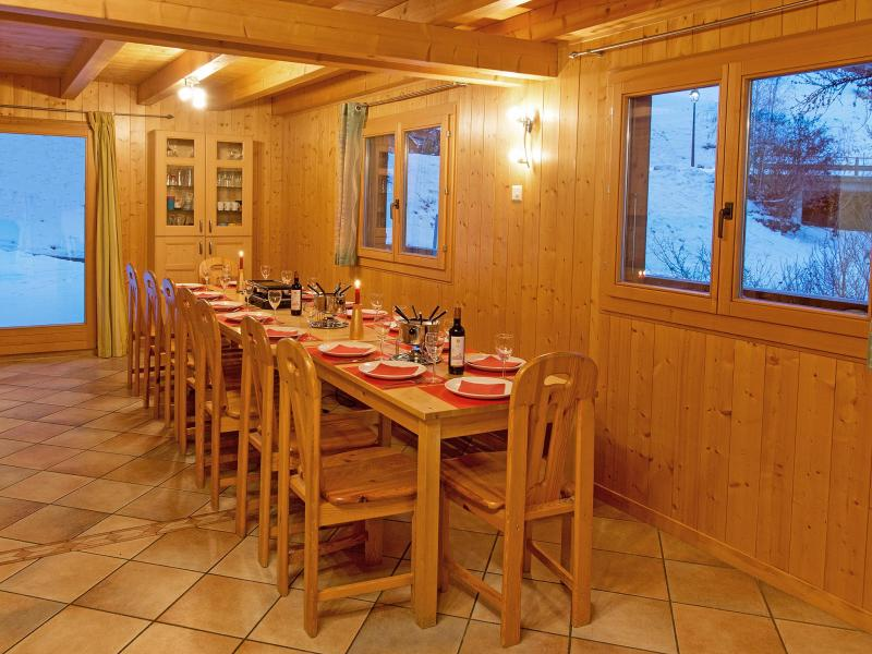 Location au ski Chalet Michelle - La Tzoumaz - Table