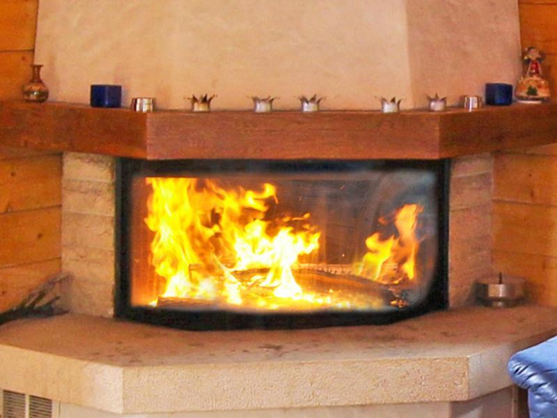 Rent in ski resort Chalet Mouettes - La Tzoumaz - Fireplace
