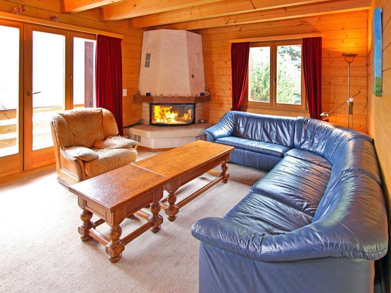 Rent in ski resort Chalet Mouettes - La Tzoumaz - Living room