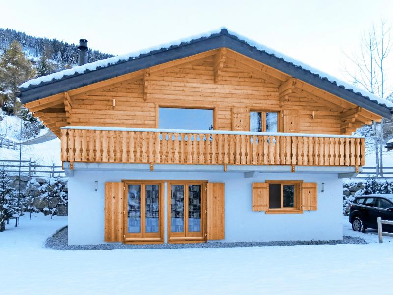 Vacances en montagne Chalet Pierina - La Tzoumaz - Extérieur hiver