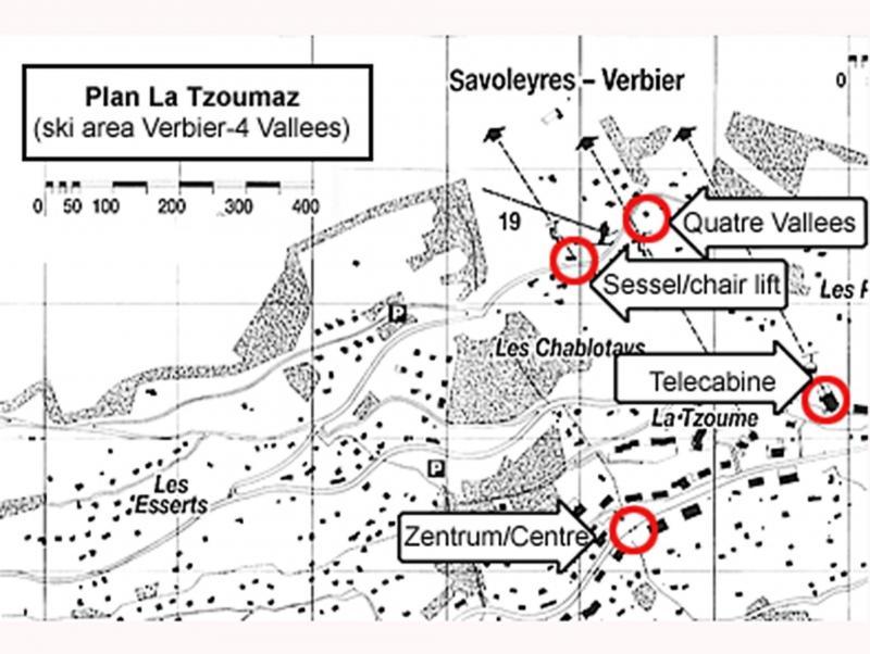 Location au ski Chalet Quatre Vallées - La Tzoumaz - Plan