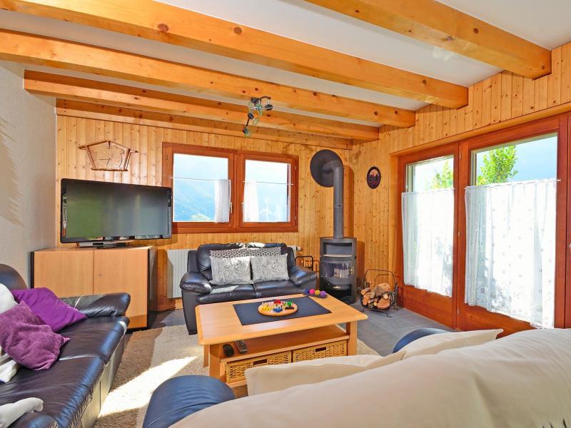 Аренда на лыжном курорте Chalet Théo - La Tzoumaz - Салон