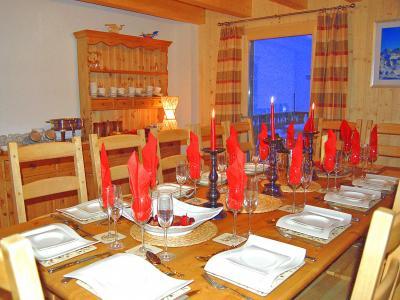 Location au ski Chalet Charmille - La Tzoumaz - Salle à manger
