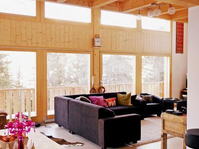 Аренда на лыжном курорте Chalet Chaud - La Tzoumaz - Салон