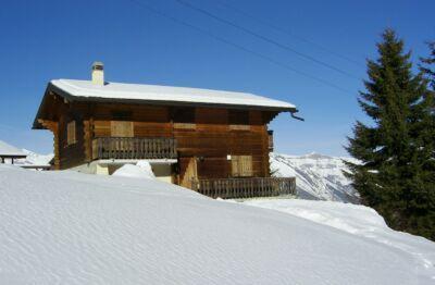 Location au ski Chalet Duc - La Tzoumaz - Extérieur hiver