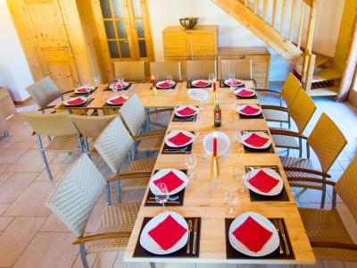 Location au ski Chalet Harmonie - La Tzoumaz - Salle à manger