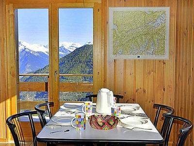 Location au ski Chalet 4 pièces 7 personnes - Chalet Lange - La Tzoumaz - Coin repas