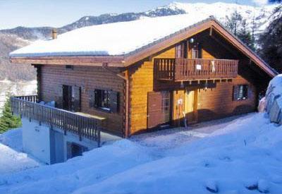 Location au ski Chalet 9 pièces 16 personnes - Chalet Les Etoiles - La Tzoumaz - Extérieur hiver