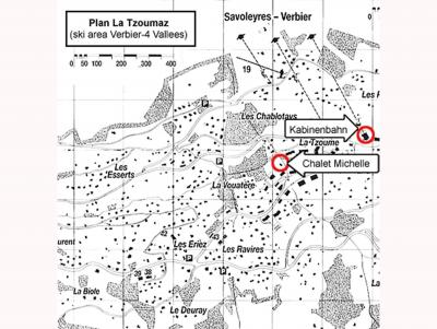 Location au ski Chalet Michelle - La Tzoumaz - Plan