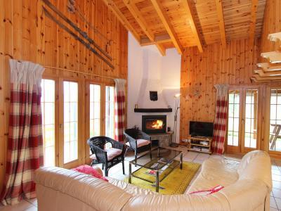 Аренда на лыжном курорте Chalet Quatre Vallées - La Tzoumaz - Салон