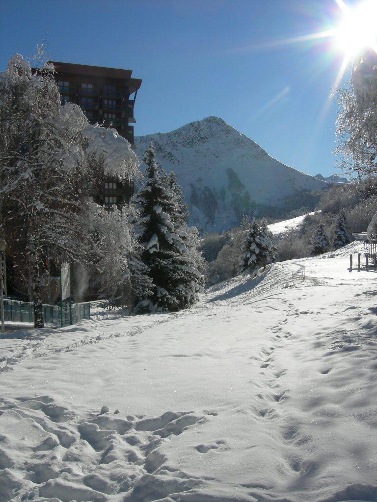 Holiday in mountain resort Studio 2 people (1012) - La Résidence Vostok Zodiaque - Le Corbier - Winter outside