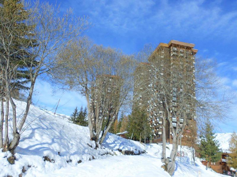 Vakantie in de bergen Résidence Vanguard Soyouz - Le Corbier - Buiten winter