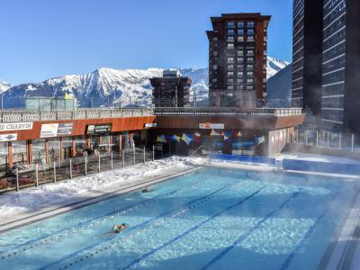 Rent in ski resort 2 room apartment 4 people (4) - Baikonour - Le Corbier - Winter outside
