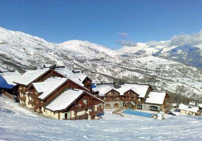 Location au ski Residence Les Alpages Du Corbier - Le Corbier - Extérieur hiver