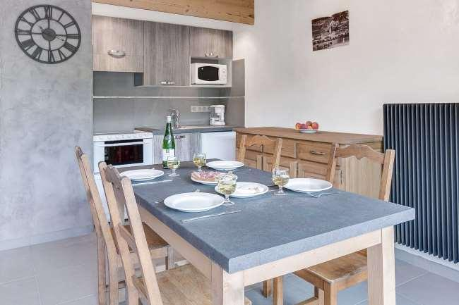 Location au ski Appartement 2 pièces 4 personnes (304) - Residence L'androsace - Le Grand Bornand - Coin repas